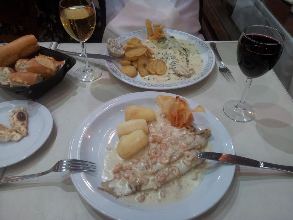 ... õhtusöögiks kalapraad, argentina vein, uhh kui hea!