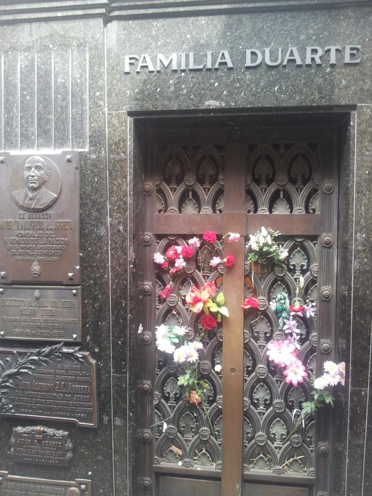 Eva (Evita) Peron (Duarte) pere mausoleum!