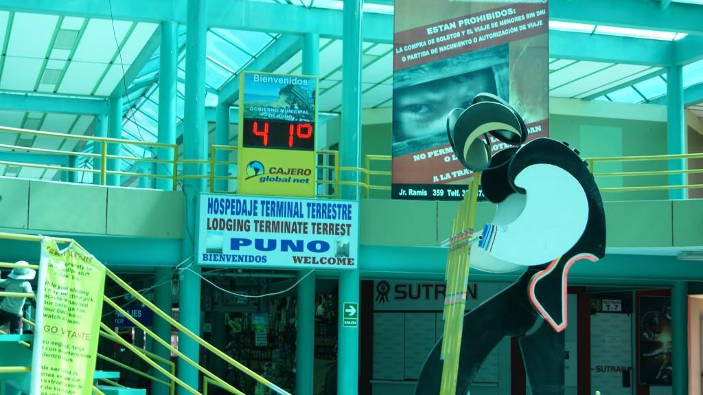 ... selline temperatuur valitses Puno bussijaamas!