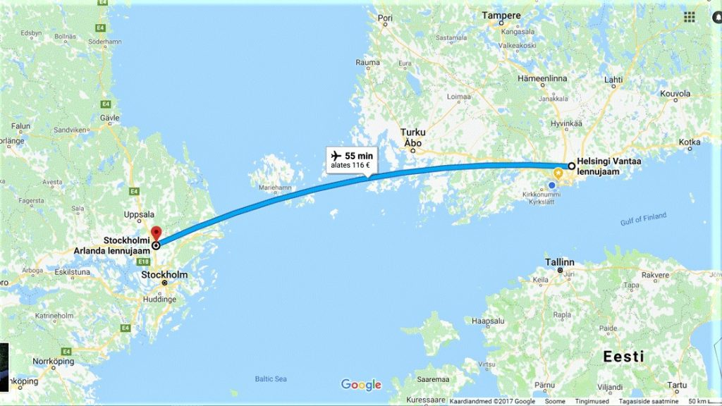 Lend Helsingi - Stockholm